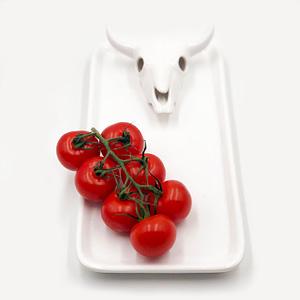Just Jozi Skull Platter White, white serving dish and platter.