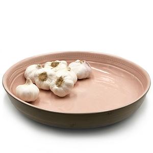 Akare Platter Blush, Handmade in Africa pink salad platter
