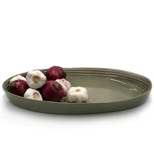 Ikhabe Platter Overcast Grey handmade platter using African clay