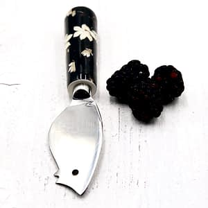 Black and white cheese knife