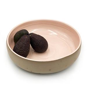 Runako Bowl Blush, handmade in Africa salad bowl