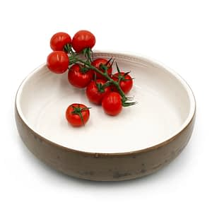 Runako Bowl Floral White,handmade in Africa bowl